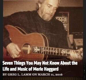 ND Merle Haggard article